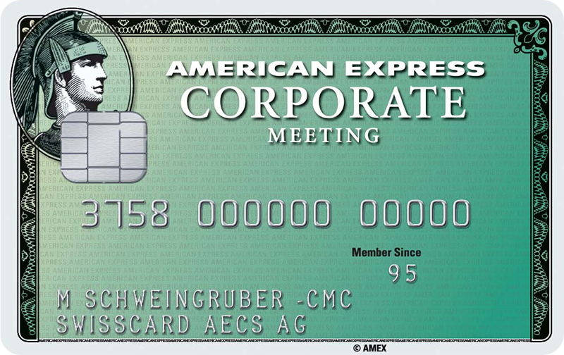 American Express<sup>®</sup> Corporate Meeting Card