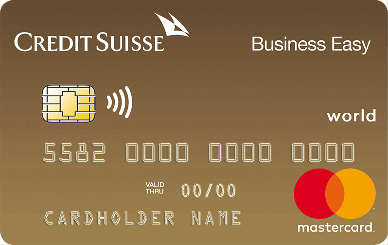 Credit Suisse Mastercard<sup>®</sup> Business Gold Business Easy