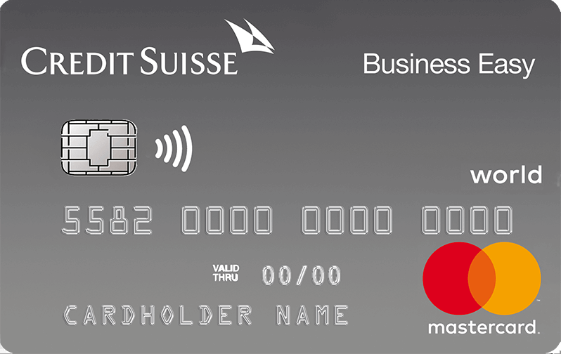 Credit Suisse Mastercard<sup>®</sup> Business Standard Business Easy